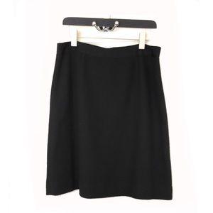 Kate Spade Skirt the Rules Black Skirt Sz 10